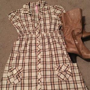L.E.I plaid cotton dress by Taylor Swift.